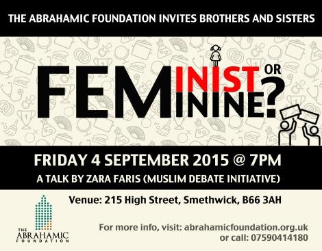 UPCOMING EVENT: Feminist orFeminine?