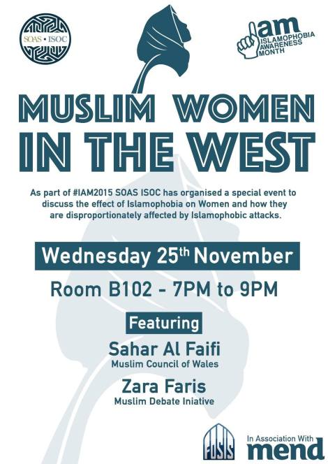 Upcoming Event: Muslim Women in the West [25 November 2015 – London]